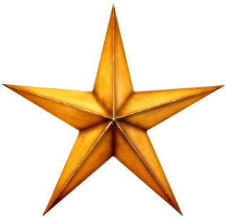 pointy gold star